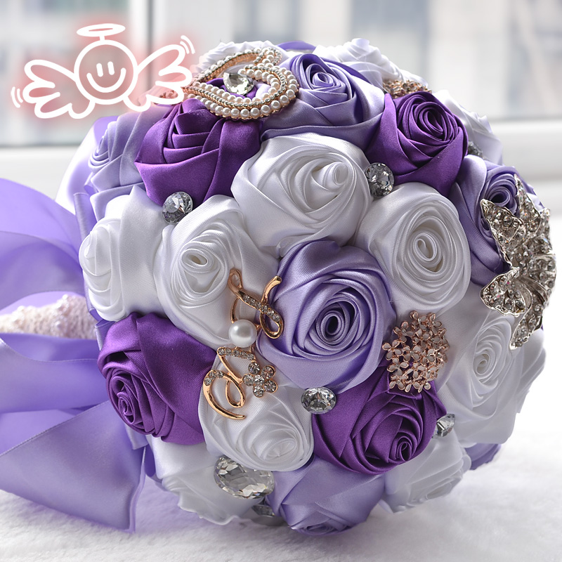 TRACY-A Bouquets de mariage artificiels fait à la main fleur strass demoiselle d'honneur cristal mariée mariage Bouquet de mariage CR-786