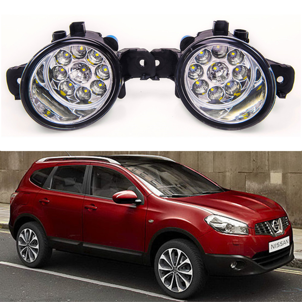 For NISSAN QASHQAI  +2 J10 JJ10 2007-2012 Car styling front bumper LED fog Lights high brightness fog lamps 1set for lexus rx gyl1 ggl15 agl10 450h awd 350 awd 2008 2013 car styling led fog lights high brightness fog lamps 1set