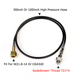 جديد الصودا تيار Sodastream جنبا إلى جنب/الصودا نادي إلى الخارجية Co2 خزان محول و خرطوم كيت W21.8-14 أو CGA320 W/ موصل فصل سريع