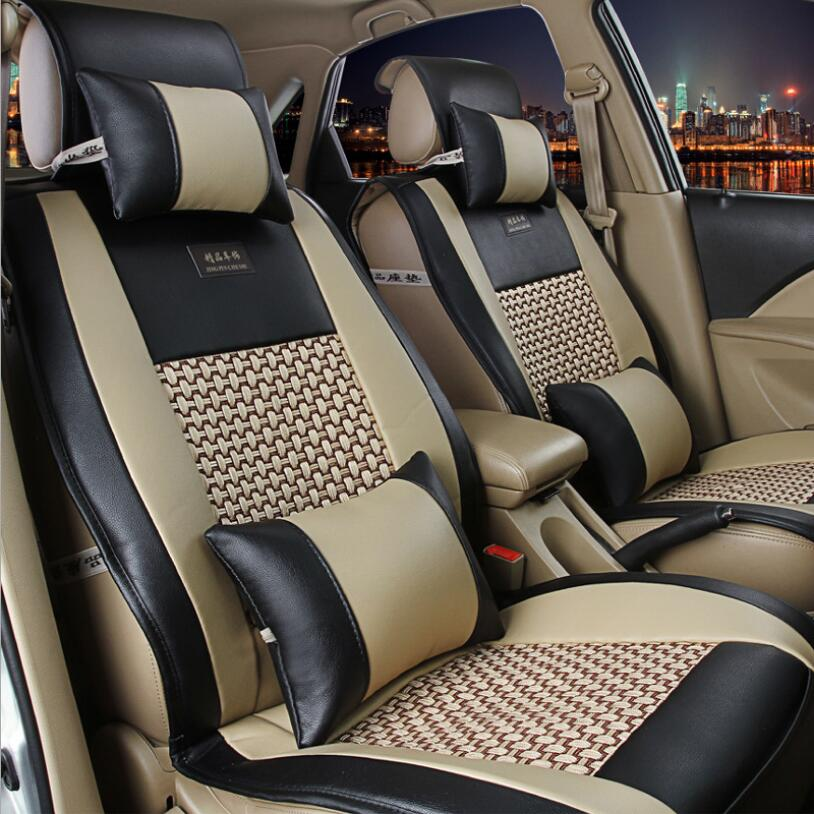 Automobiles Seat Covers for lada granta renault logan peugeot 206 geely emgrand ec7 ssangyong kyron car seats covers slip-on shoe