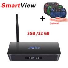 [Auténtica] X92 2 GB/16 GB 3 GB/32 GB Android 6.0 Smart TV Caja Amlogic S912 Octa Core KD16.1 Completamente Cargado 2.4 GHZ/5.8G 4 K Set Top Box