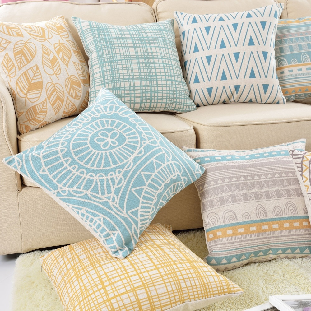 2017 Real Moden Abstract Cushion Cover Geometric Pillow Case Cotton Linen Printed Home Decorative Throw Pillow Cover Cojines