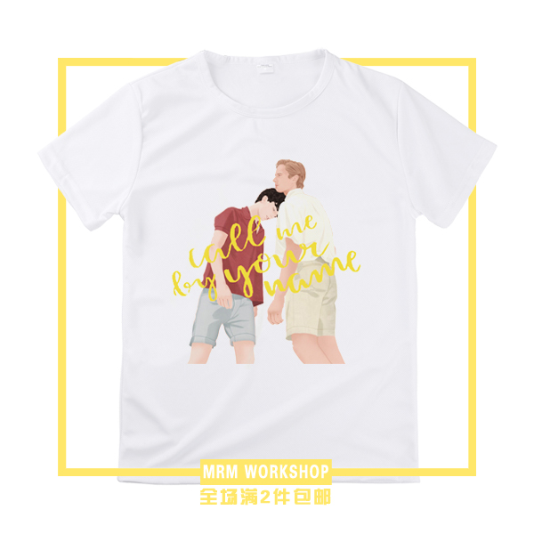 [STOCK] 2018 Anime Call Me By Your Name 100% Catton T-shirt Cosplay Custume Unisex S-3XL For Halloween Free Shipping Good Cheap