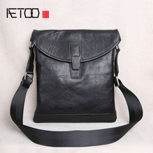AETOO Quartet vertical shoulder bag mens business casual messenger