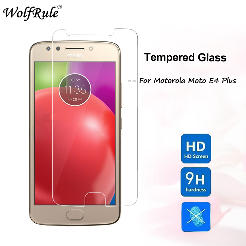 WolfRule 2PCS Glass For Moto E4 Plus Screen Protector Tempered Glass For Motorola Moto E4 Plus Protective Film Glass image