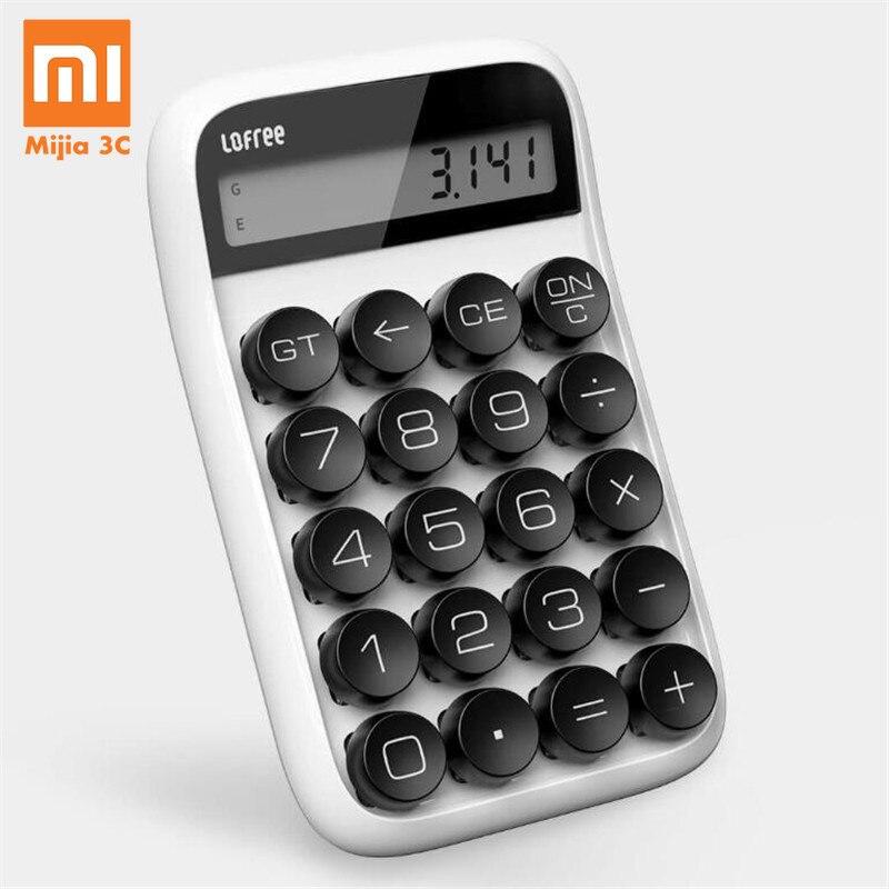 Descomprimido 3 cores Xiaomi Lofee Calculadora Vintage Destacável Keycap de Desligamento Inteligente Estudante Escritório Ferramenta de Cálculo