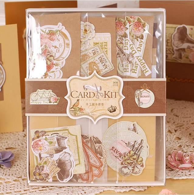 Online shop diy vintage card kit set creative gift greeting card diy vintage card kit set creative gift greeting card making kit for kidsfriends m4hsunfo