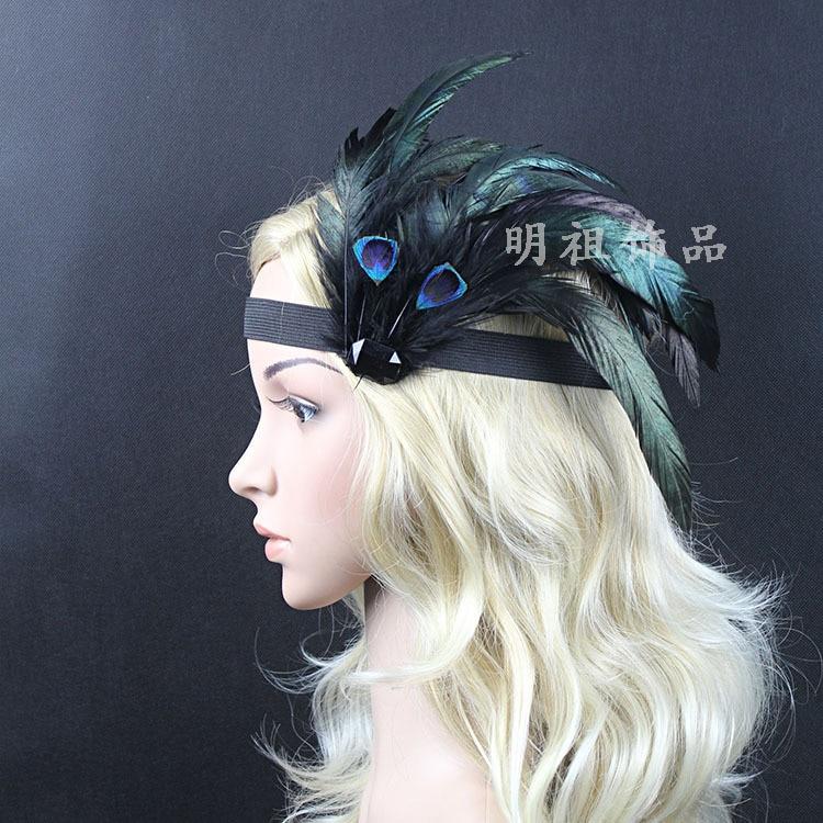Indian Wedding Headdress: Handmade Feather Headwear Indian Wedding Girl Princess