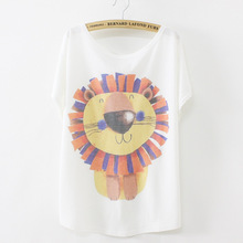 New 2017 Summer Thin Style Fashion Loose Women s Batwing Short Sleeve O neck T shirt
