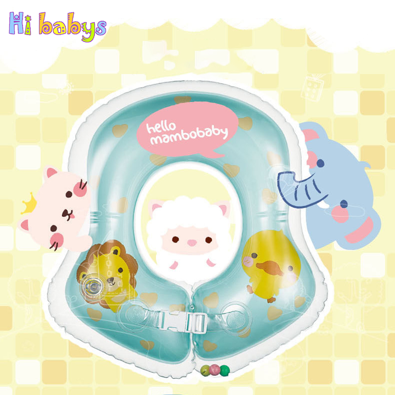 New Swimming Inflatable Baby Boat Conformation Safety Neck Ring Newborn Swimming Infant Circle For Bathing Safety Child Toys