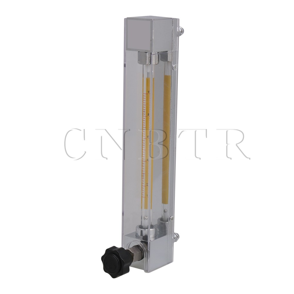 CNBTR LZB-4 1-10L/h Clear Flow Meter for Water Gasoline Liquid Flow Rate with 2/5in Hose Thread lzb 2 glass rotameter flow meter with control valve for liquid and gas conectrator it can adjust flow