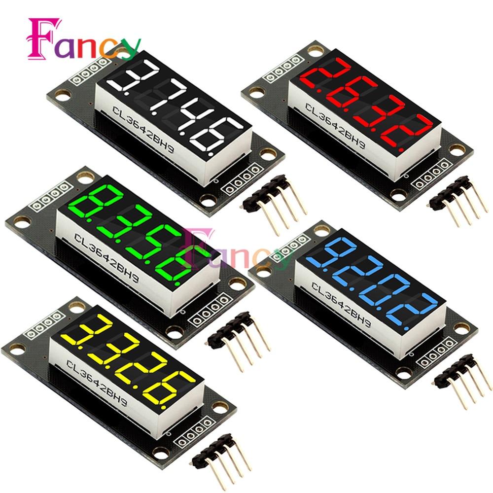 4-Digit LED 0.36 7 Segments Display Tube Decimal TM1637 Module size 30x14mm 0.36 inch For Arduino Red/Blue/Green/White/Yellow bonatech 8 digit led seven segment display module deep blue