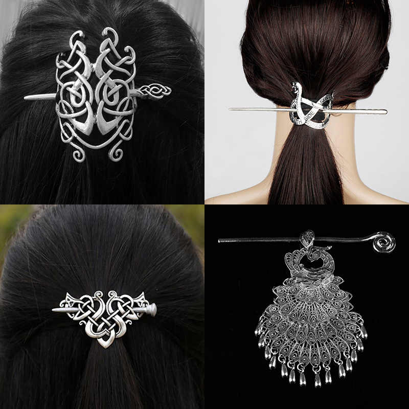 27 Style Viking Hairpin Celtics Knots Crown Vintage Metal Hair Stick Runes Dragons Slide Hair Clip Women Hair Jewelry Accessorie Hair Jewelry Aliexpress