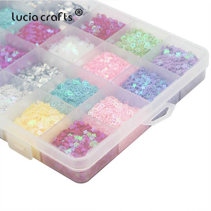 Lucia crafts 1box 3-4mm Mixed 24 Colors Flake Rainbow Cup Sequin Paillette For Home Wedding DIY Decoration Confetti D0204