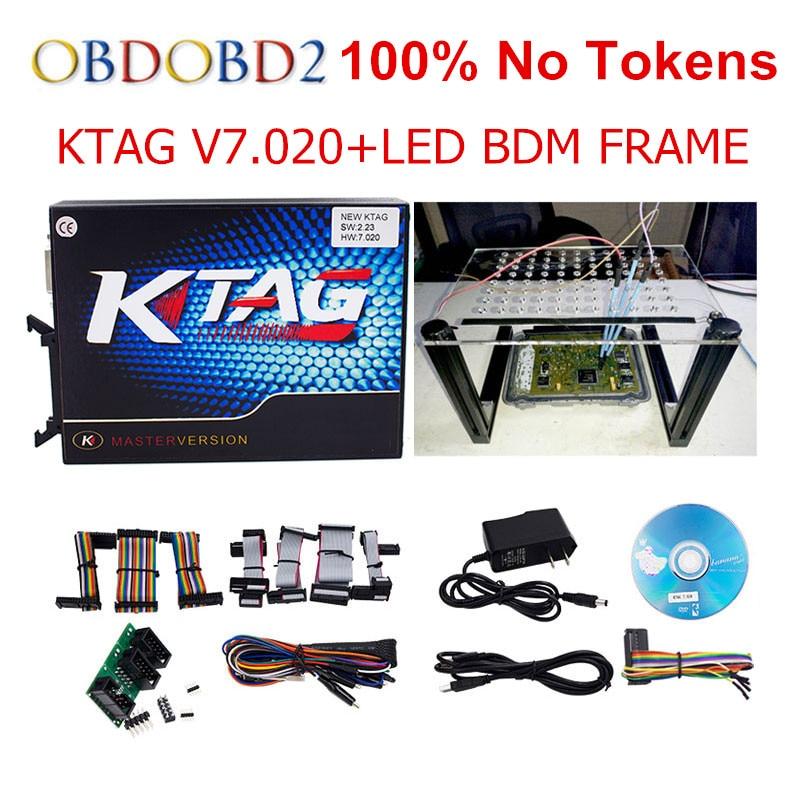 Newest KTAG K TAG V7 020 Master Used Online LED BDM FRAME K TAG 7 020