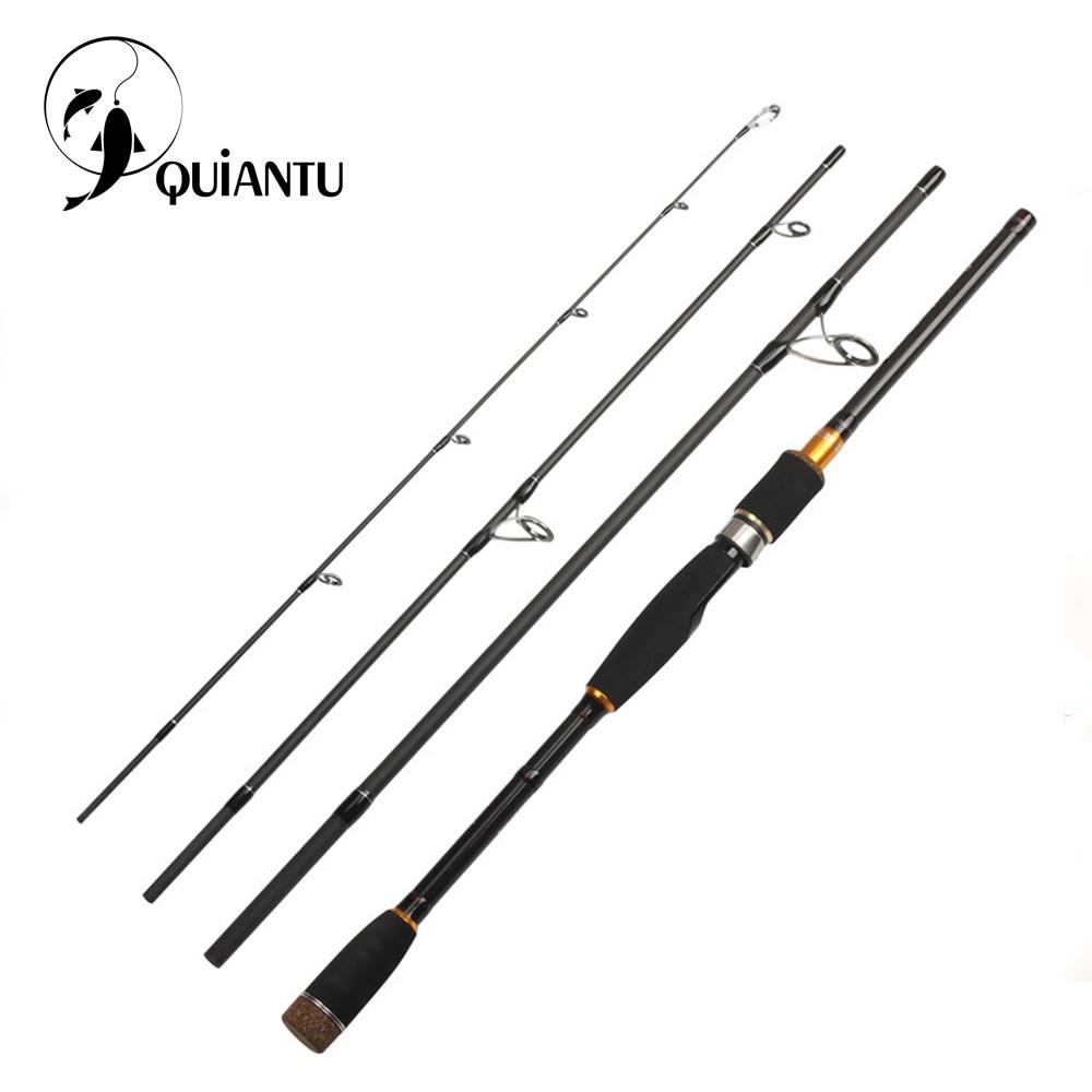 купить QUIANTU 2.1m 2.4m 2.7m 3.0m 99.9% Carbon Fiber Spinning Fishing Rod Casting Travel Fishing Rod Lure Rod 4 Sections Fast Action по цене 1774.73 рублей