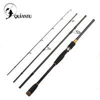 QUIANTU 2.1m 2.4m 2.7m 3.0m 99.9% Carbon Fiber Spinning Fishing Rod Casting Travel Fishing Rod Lure Rod 4 Sections Fast Action