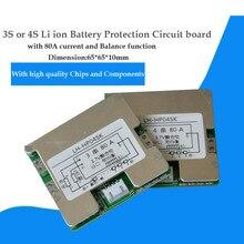 3 s 12 v 또는 4 s 16.8 v 리튬 이온 18650 배터리 pcb (80a 전류 포함) 12.6 v lipo 배터리 bms (밸런스 기능 포함)