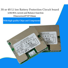 3S 12V or 4S 16.8V li ion 18650  Battery PCB with 80A current  for 12.6V lipo battery BMS with Balance function