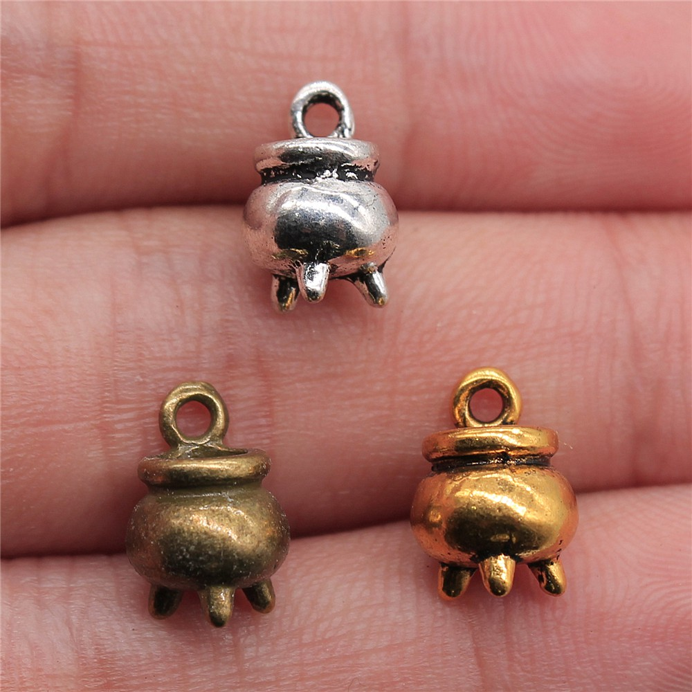 Wysiwyg 15 pces 11x8x8mm charme censer 3 cores encantos do censer que desejam encantos do pendente do censer para fazer joias