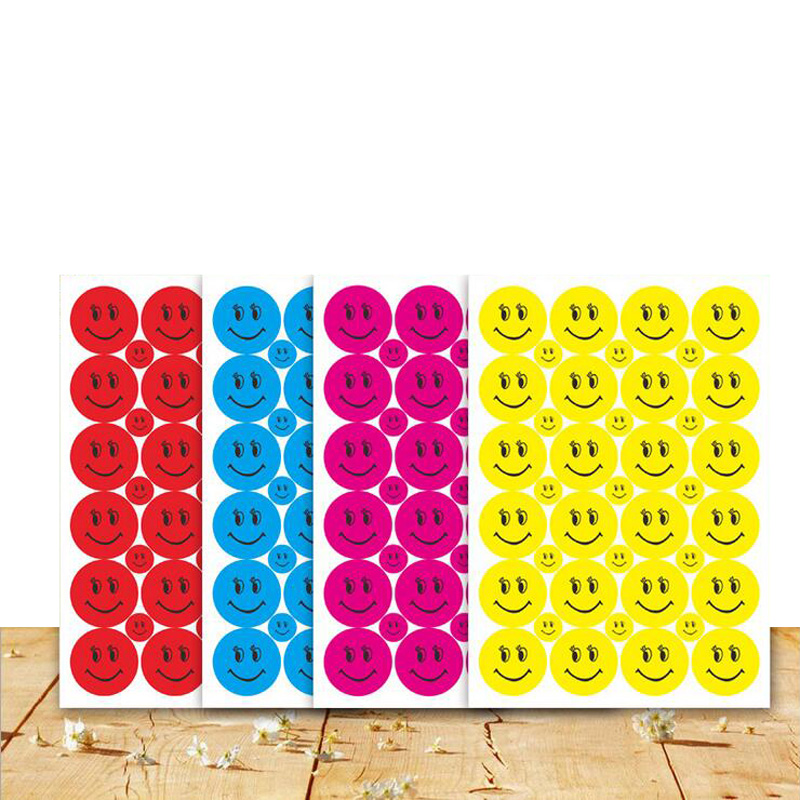 39Pcs Smile Face Stickers Children School Teacher Merit Praise Class Sticky Paper Lable Lovely Sticker