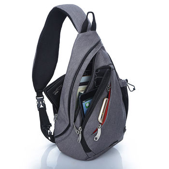 IX Brand Large Capacity Chest Bag Pack Nylon Zipper Women's Messenger Bags Men's School Bag Modern Shoulder Bag Backpack XA260WA 3