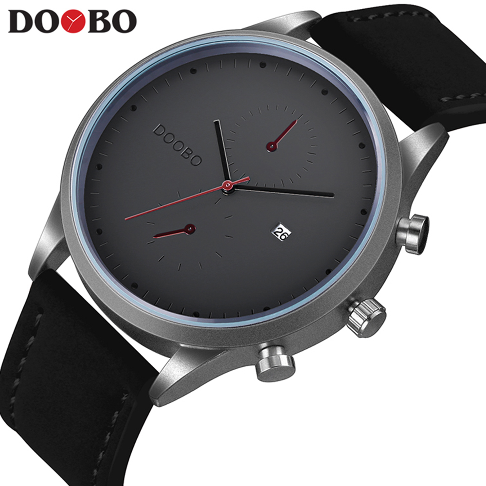 Sport Watch Men Erkek Kol Saati Mens Watches Top Brand Luxury Clock Men Watch Military Army DOOBO Quartz Watch relogio masculino brown leather strap men quartz watch mens watches top brand luxury erkek kol saati horloge montre homme clock megir hodinky b190