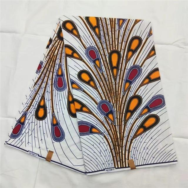 100%Cotton 6Yards! 2018 New Super Wax Hollandais Guaranteed Dutch Wax African Super Wax Hollandais 100 For African Ankara Dress!