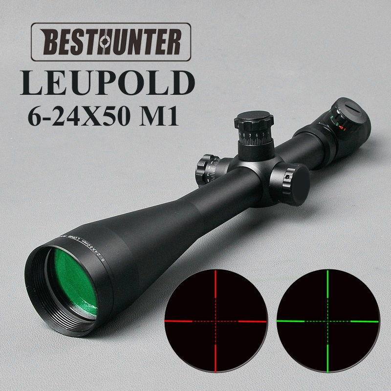 LEUPOLD MARK 4 6-24X50 M1 Tactical Rifle Scope Hunting Optics Scope Red and Green Dot Fiber Reticle Long Eye Relief Rifle Scopes 3 10x42 red laser m9b tactical rifle scope red green mil dot reticle with side mounted red laser guaranteed 100%