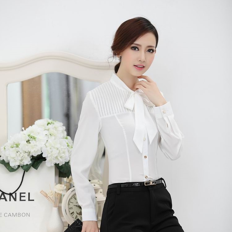 Aliexpress.com : Buy New 2017 Fall Formal White Blouses Women Long ...