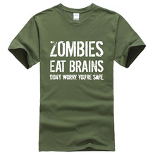 aed9d039a Men's T-shirts Zombies Eat Brains printed 2019 summer casual funny brand-clothing  t