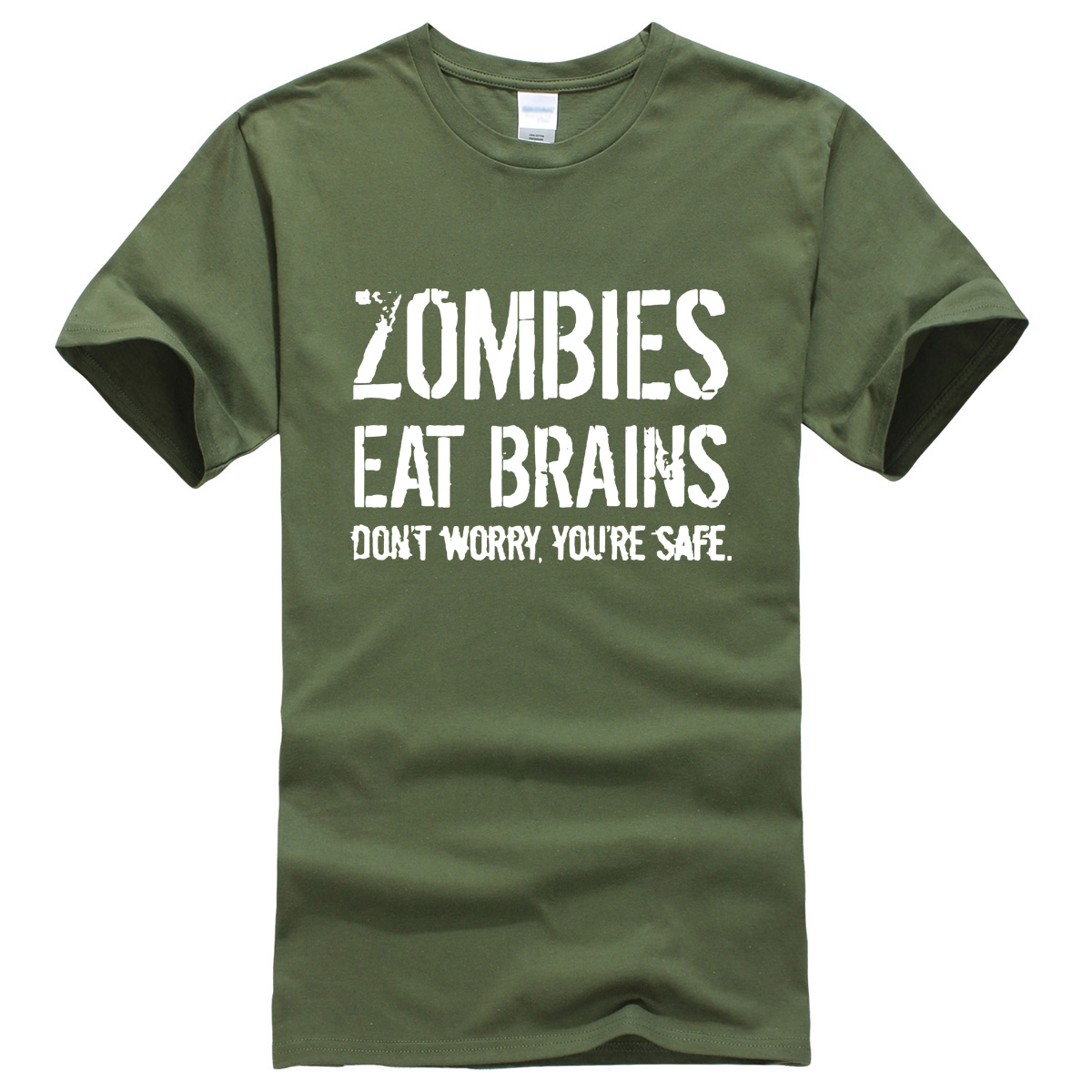 Men's   T  -  shirts   Zombies Eat Brains printed 2019 summer casual funny brand-clothing   t     shirt   for men sportwear   T  -  shirt   harajuku top