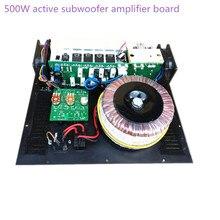 Mono Amplificador Subwoofer 500 W subwoofer activo tablero del amplificador puro Bass Salida casa subwoofer tablero del amplificador