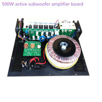 Mono Subwoofer Amplifier 500W active subwoofer amplifier board pure Bass Output home subwoofer amplifier board
