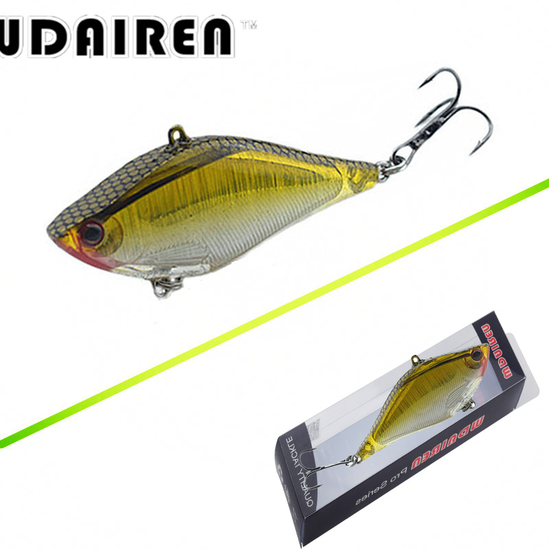 WDAIREN 1PCS Hard VIB Lures 13.8G 6.5CM Fishing Lure Treble Hooks Sinking Crankbait Fishing Bait Tackle WD-450 wldslure 1pc 54g minnow sea fishing crankbait bass hard bait tuna lures wobbler trolling lure treble hook