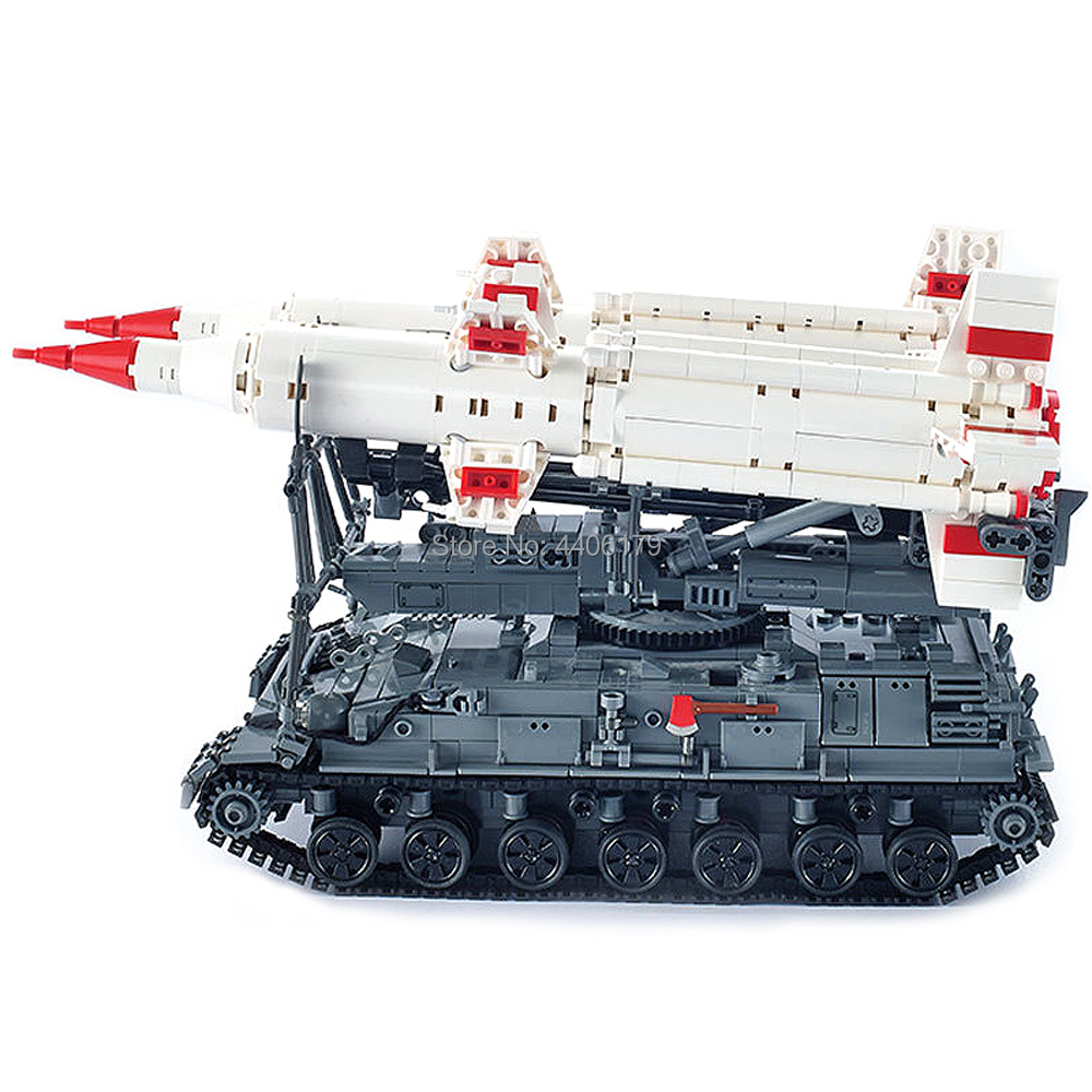 hot LegoINGlys military weapon war WW2 Soviet Union army Heavy tank Sam missile launcher Building Blocks MOC model bricks toys in Blocks from Toys Hobbies