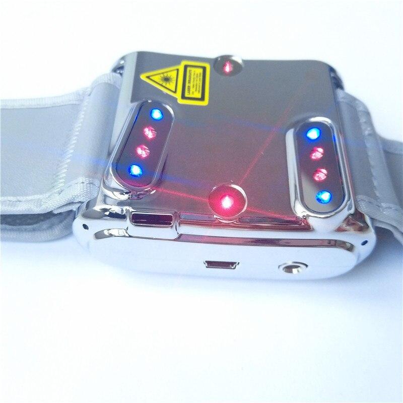 2019 Laspot Novo Suger Sangue Massagem Mais Limpo Nariz Intranasal LLLT Relógio Dispositivo Laser Terapia de Luz Azul Para a Pressão Arterial Elevada