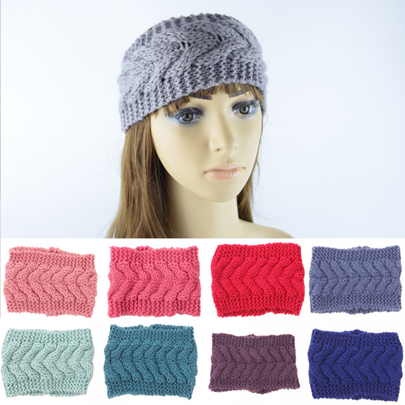 Fashion Solid Color High Quality Winter/Autumn Women Hair Band Knitting Woolen Warm Headband Hair Accessories high quality hair color one time molding paste seven colors available grandma gray green japanese hair dye wax wp65
