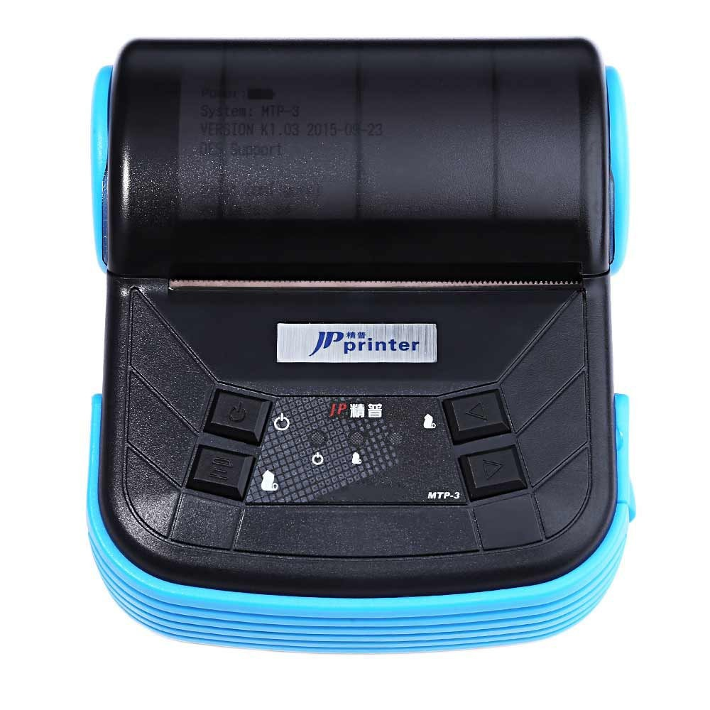 Portable 80mm Bluetooth 2.0 Android Mobile Phone Thermal Receipt  Printer  for Supermarket Restaurant POS Printer EU /US plug goojprt mtp 3 portable 80mm bluetooth thermal printer exquisite lightweight design eu plug support android pos multi language