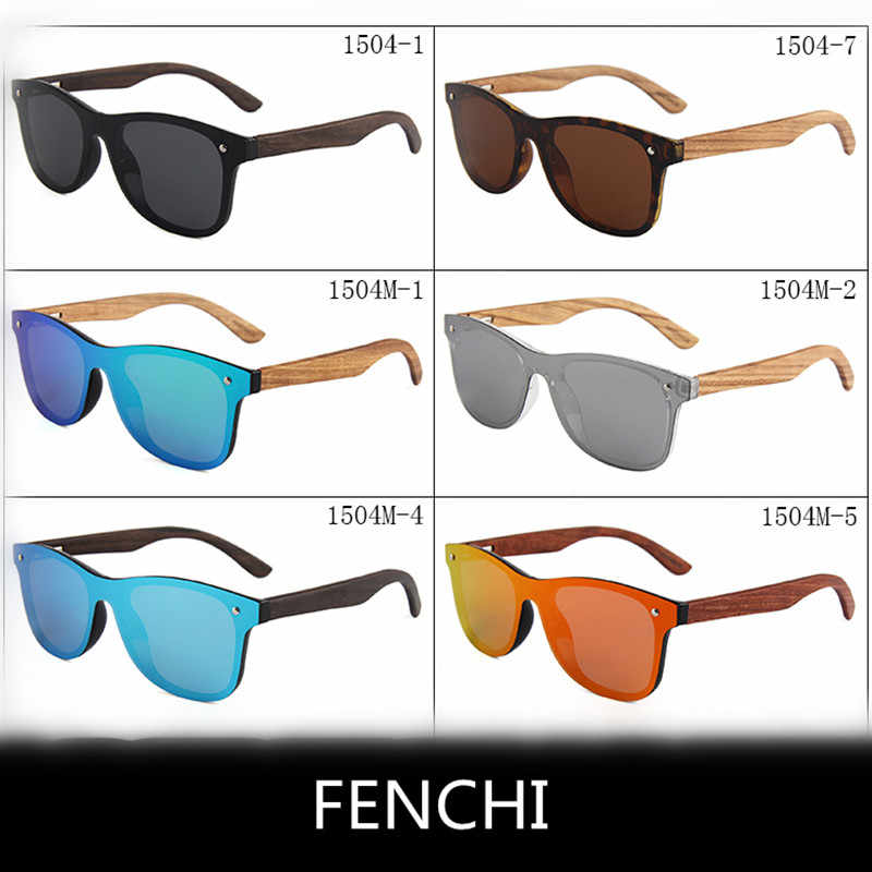 Polarized Pink Women Sunglasses Men 2019  Zonnebril Dames Ebony Zebra Wood Mirror Lens Female Sun Glasses Oculos Feminino