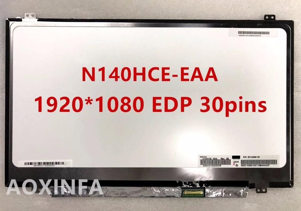 Free shipping LP140WF3-SPL1 LP140WF3-SPD1 LP140WF1-SPB1 N140HCE-EAA N140HGE-EAB Laptop lcd screen 1920*1080 EDP 30pin
