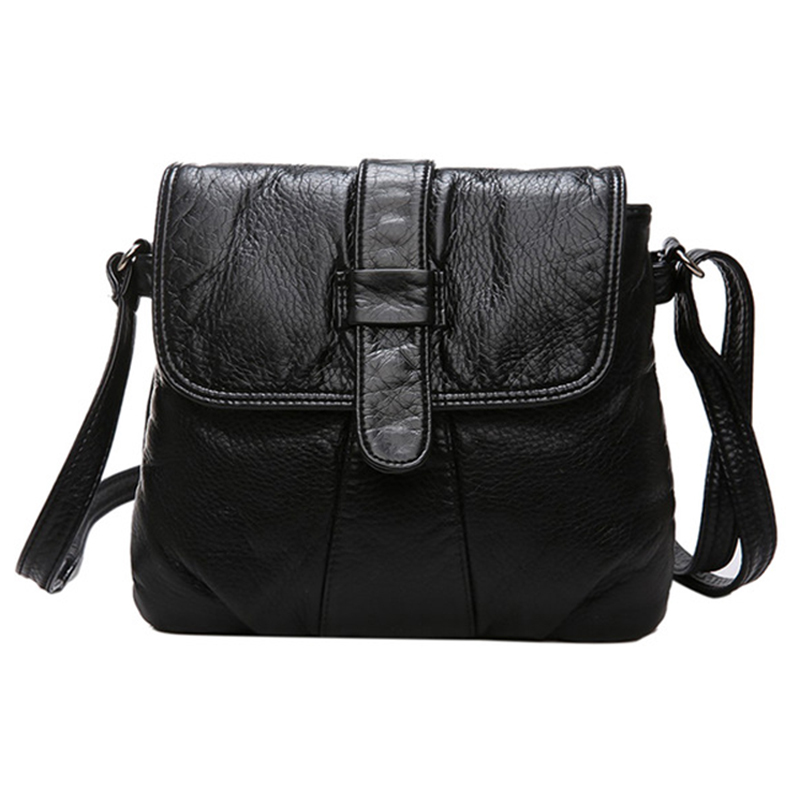 Epiphqny Brand Soft Leather Women Messenger Bag Fashion Lady Shoulder Bag Small Female Handbag Black Hand Bag Flap фуфайка мужская laplandic heavy цвет синий l21 1990s nv размер 4xl 60