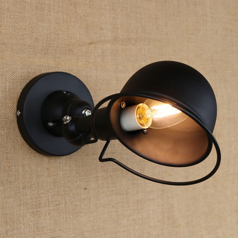 Hot Wall Lamp Double Folding Lever Arm Black Retro Retractable Without Switch Drop Shopping