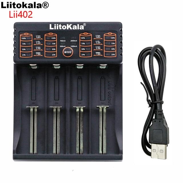 Liitokala Lii-100 202 402 1.2 V / 3 V / 3.7 V / 4.25V 18650/26650/18350/16340/18500/AA/AAA NiMH lithium battery charger