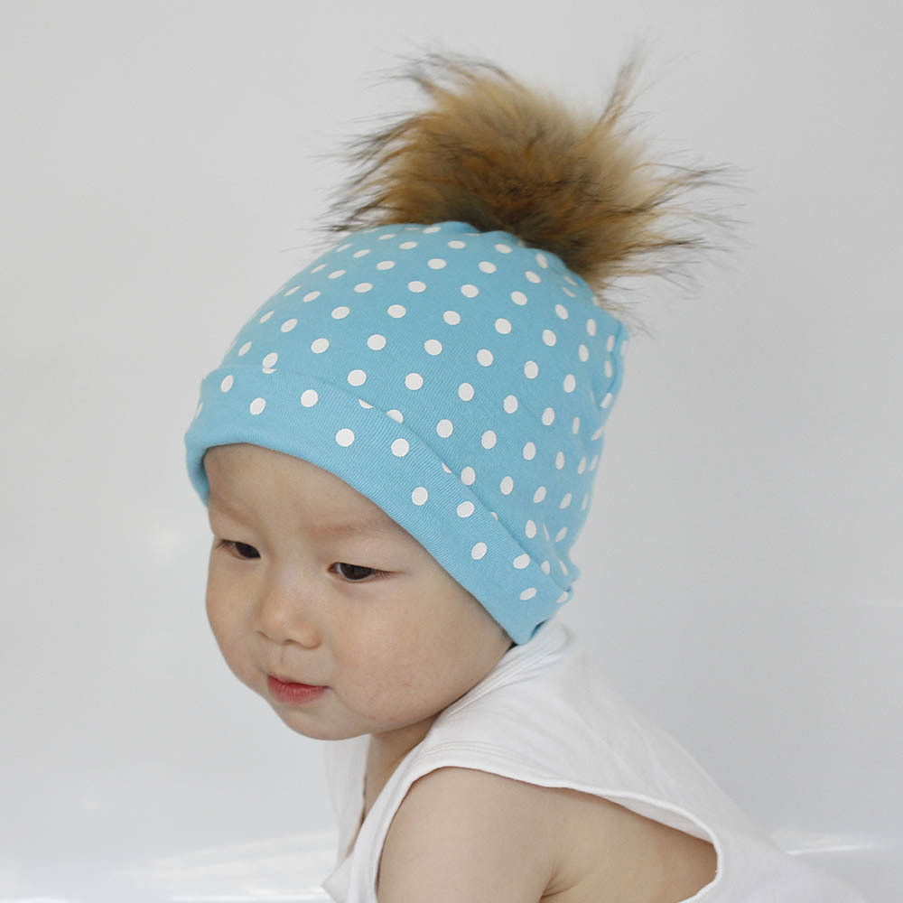 Cute Baby Girls Boys Cartoon Dot Toddlers Cotton Sleep Cap ...