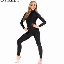 OVIGILY, спандекс, водолазка, длинный рукав, без ног, Унитазы для женщин, нейлон, цельный, черный, для танцев, унитаз, боди, костюмы зентай