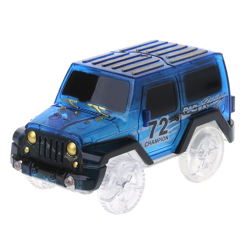LED <font><b>car</b></font> <font><b>model</b></font> Night Luminous Magic Electronics Vehicle Flashing Lights Kids Educational Toy image