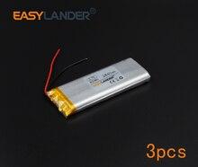 3pcs/Lot 3.7V 2840mAh Rechargeable li Polymer Li-ion Battery For bluetooth headset GPS PSP PDA MP3 MP4 speaker 803480 083480