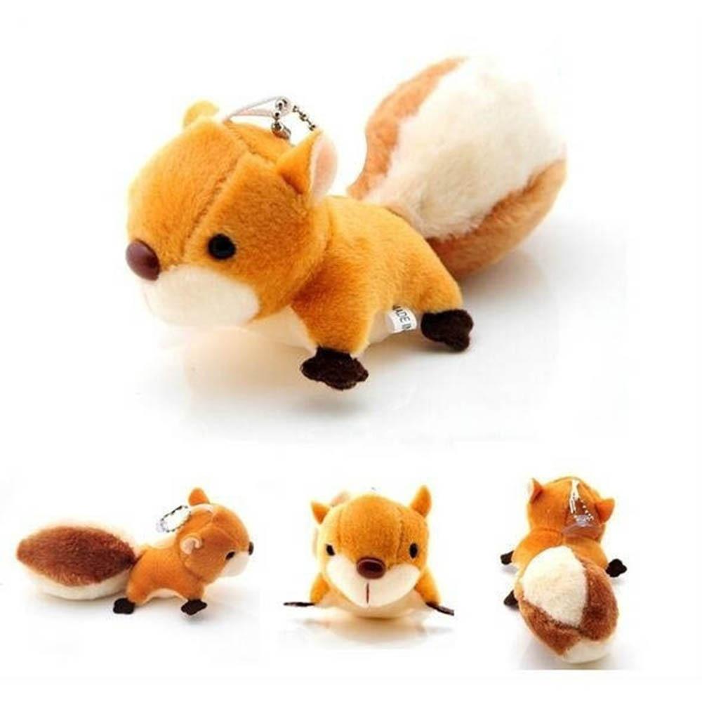 1Pcs New Arrival Plush Toy New Doll Stuffed Toy Squirrel Pendant Handbag Ornaments Pendant Wedding Ornaments Bag Pendant Doll