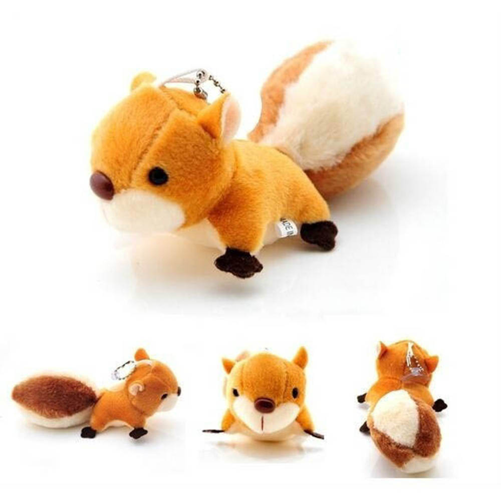 1Pcs New Arrival Plush Toy New Doll Stuffed Toy Squirrel Pendant Handbag Ornaments Pendant Wedding Ornaments Bag Pendant Doll